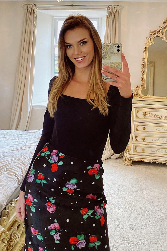 Samantha Floral Bias Cut Skirt