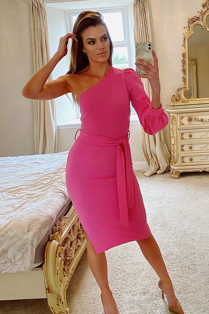 Harper One Shoulder Midi Dress